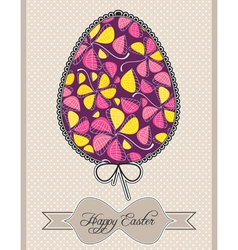 Floral composition in easter egg vector