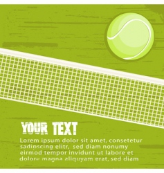 Grunge tennis background vector