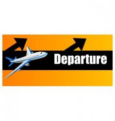 Departure plane vector
