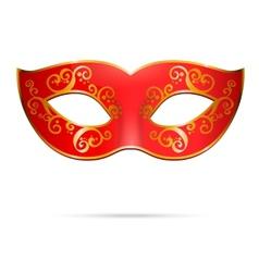 Red venetian carnival mardi gras party mask vector
