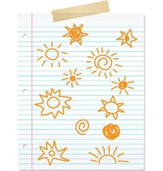 Sun sketch vector