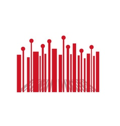 Barcode with red balls vector