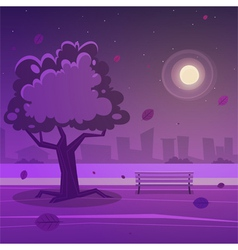 Night park vector