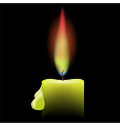 Burning single candle vector