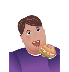 Hungry boy vector