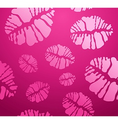 Lipstick kiss shape pattern vector