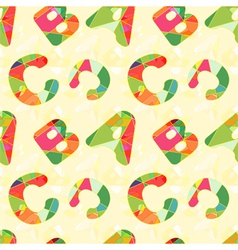 Colorful abc seamless pattern vector