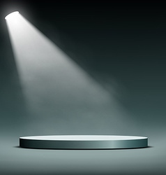 Floodlight illuminates a pedestal for presentation vector