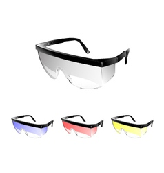 Safety glasses vector