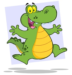 Alligator or crocodile jumping vector