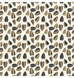 Seamless pattern with sunflower seeds vector