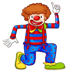 A coloured drawing of a clown vector