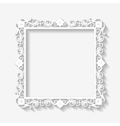 Vintage white frame background vector