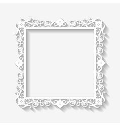 Vintage white frame background vector
