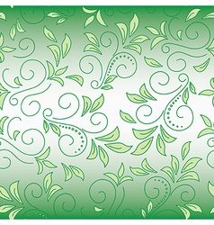 Floral green decorative background with gradient vector