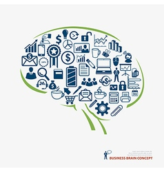 Brain icon business concept vector