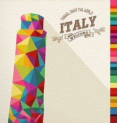 Travel italy landmark polygonal monument vector