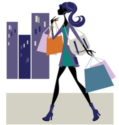 Chic shopper vector