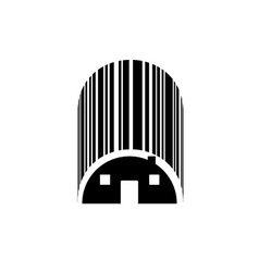 Bar code house vector