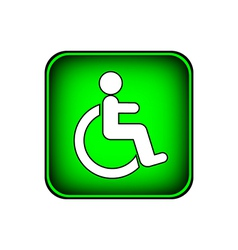 Disabled icon sign vector