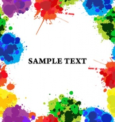 Paint splats frame vector