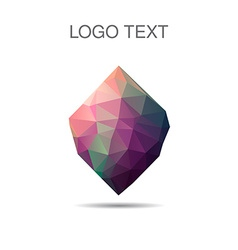 Triangle logo or icon of stone in vector