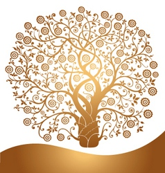 Golden tree vector