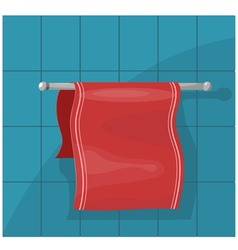 Towels on the holder eps10 vector