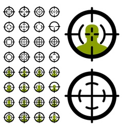 Gun crosshair sight symbols vector