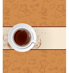 Coffee background and cup vector