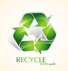 Green recycle vector