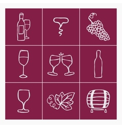 Set of wine making icons vector