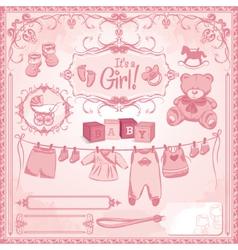 Baby girl childbirth vector
