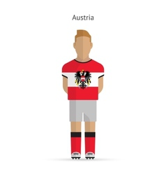 Austria football player soccer uniform vector