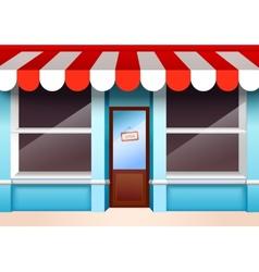Empty store front vector