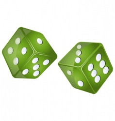 Green dices vector