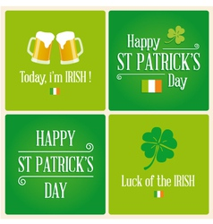 Happy st patricks day card design elements vector