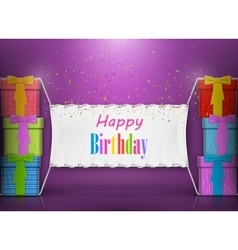 Happy birthday banner abstract design vector
