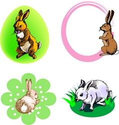 Rabbit border vector