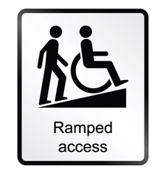 Ramped access information sign vector