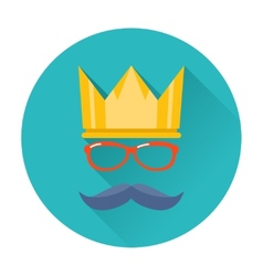 Hipster party crown icon vector