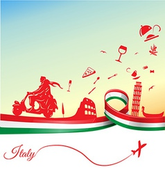 Italian holidays background vector