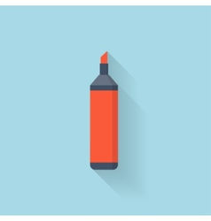 Flat marker pen icon vector