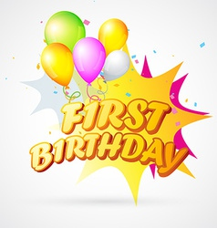 First birthday blast vector