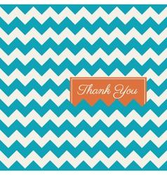 Thank you card chevron background vector