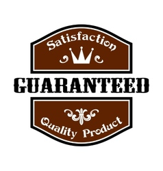 Satisfaction guaranteed quality label vector