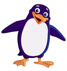 Cheerful penguin vector