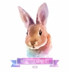 Set of watercolor  cute vector