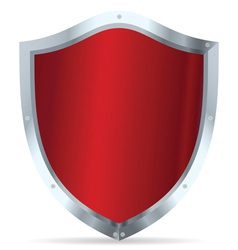 Red glossy steel shields vector