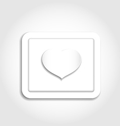 Heart from paper for valentines day vector
